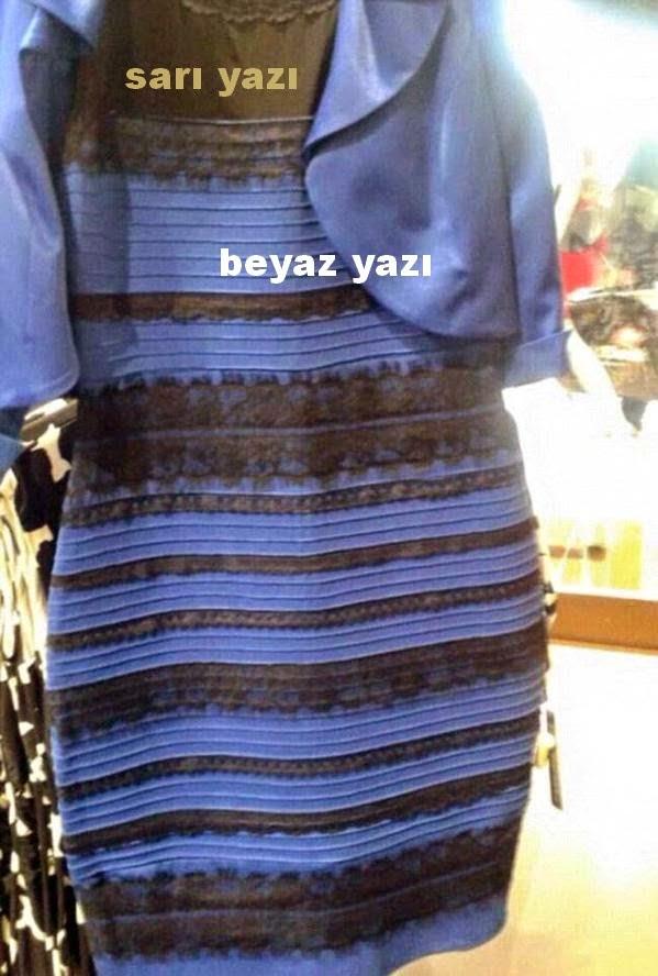 sarı+beyaz+mavi+siyah+elbisenin+sırrı