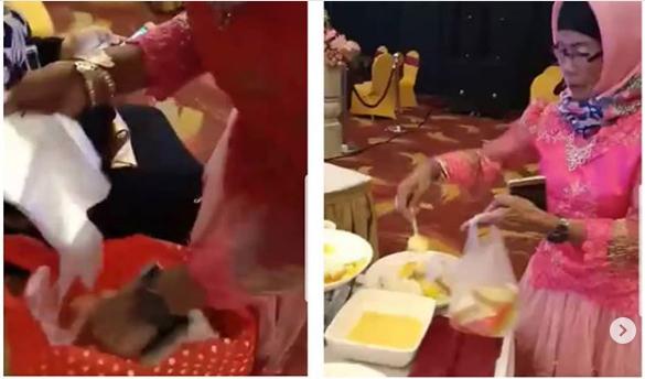 Gamau Rugi Kali Yah, Emak-emak Ini Pergi ke Kondangan Bawa Kantong Plastik Untuk Bungkus Jamuan