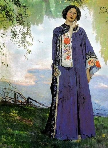 Retrato de B. M. Nesterov - Pinturas de Mikhail Nesterov - (Simbolismo) Russo
