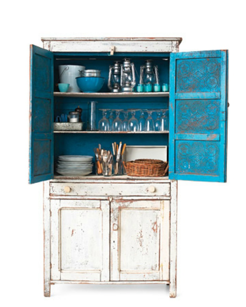 coastal painted blue cabinet bar for outdoors