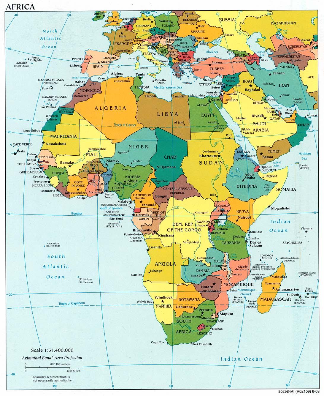 Africa | Mapas Geográficos da África