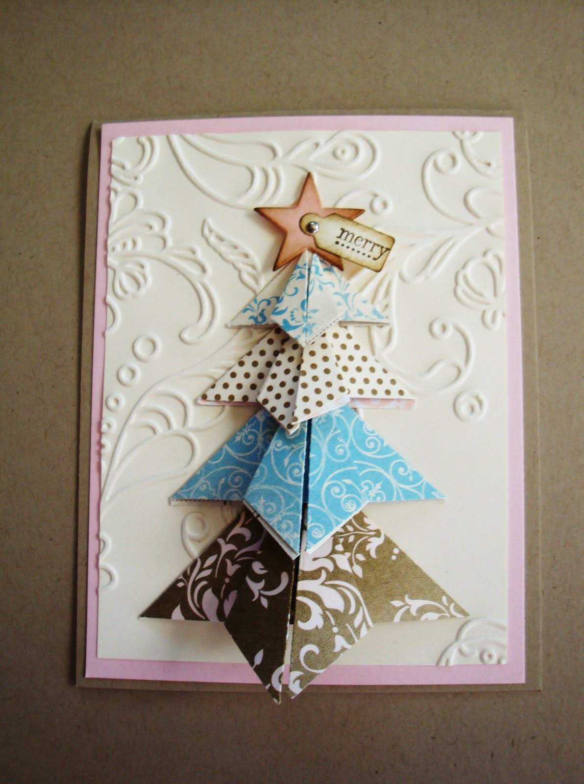 penguinstamper: Origami Christmas Tree - photo#24