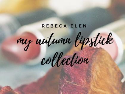 My autumn lipstick must haves