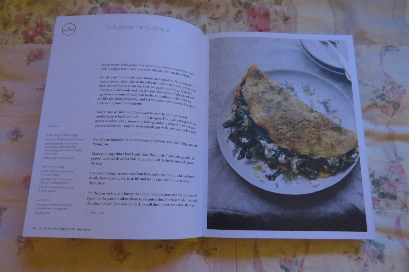 Readerbuzz a cookbook that just might make you a vegetarian a i read the book and i try a recipe soft green herb omelet it is in the very first section of the book the one that promised a meal in fifteen minutes forumfinder Choice Image