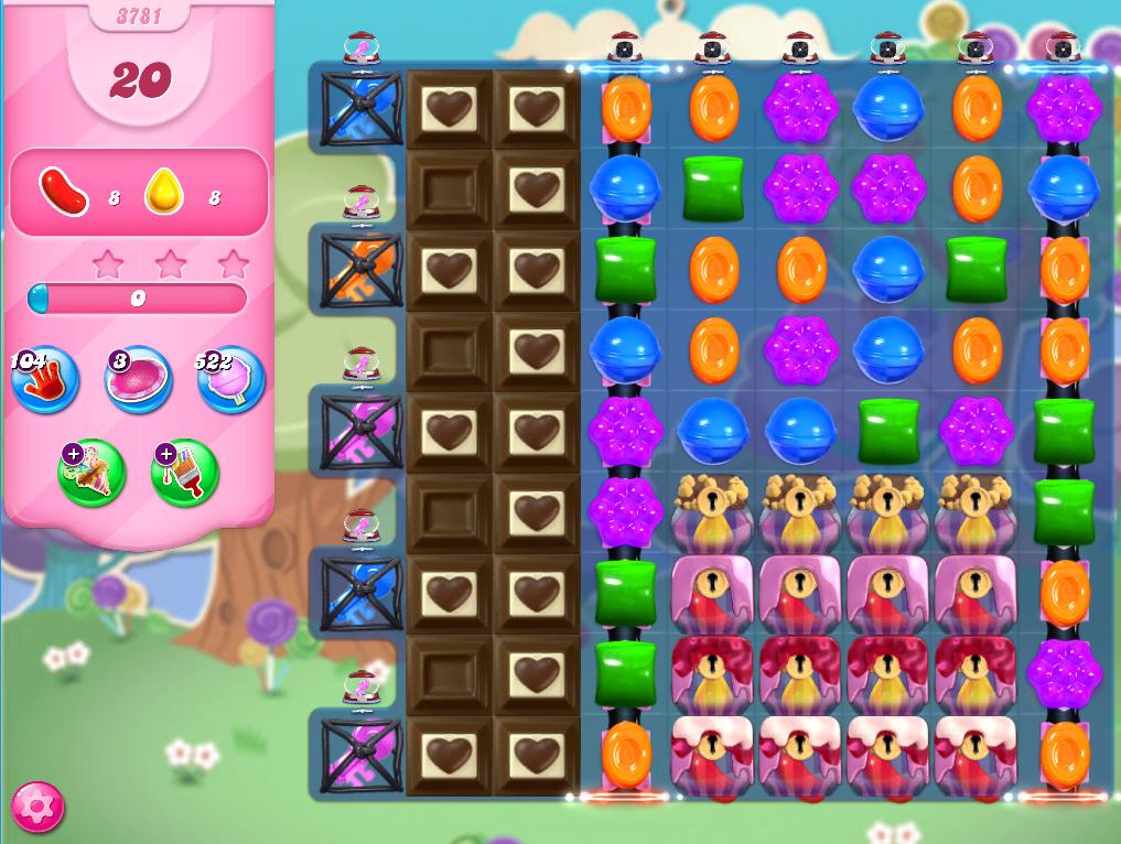 Candy Crush Saga level 3781