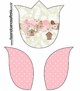 Passarinhos E Flores Kit Completo Com Molduras Para Convites