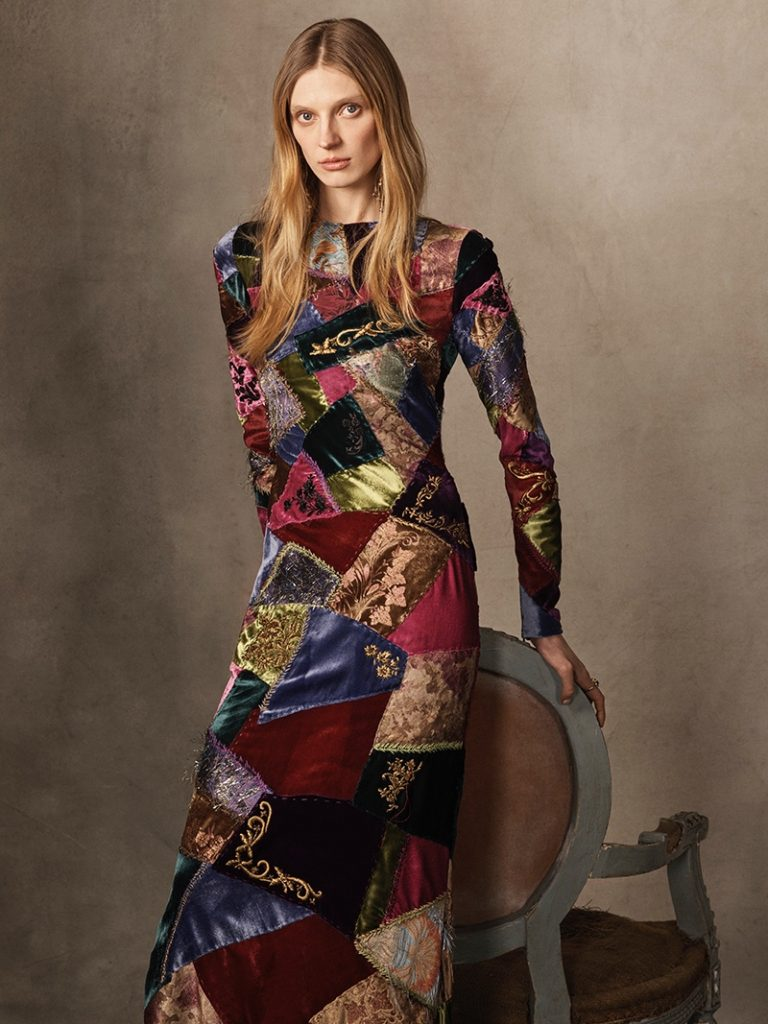 Ralph Lauren Collection 'Hamlin' Patchwork Dress