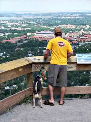 Overlooking University of Colorado at Boulder
