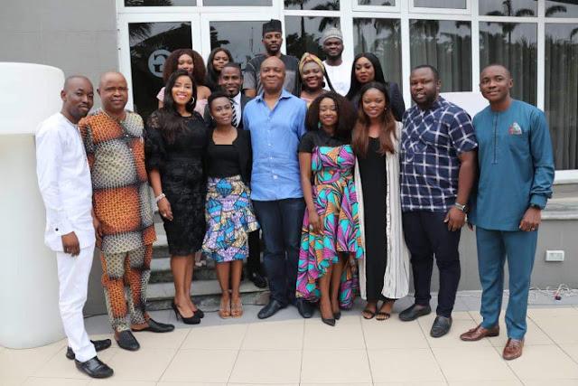 President of the Senate Dr Bukola Saraki with Cohorts of the Obama Foundation