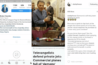 COZA Pastor, Biodun Fatoyinbo Blocks BABA Freeze on Instagram After He Called Him Out