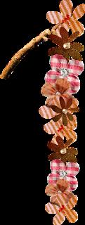 Abecedario hecho con Flores de Tela. Fabric Flowers Abc.