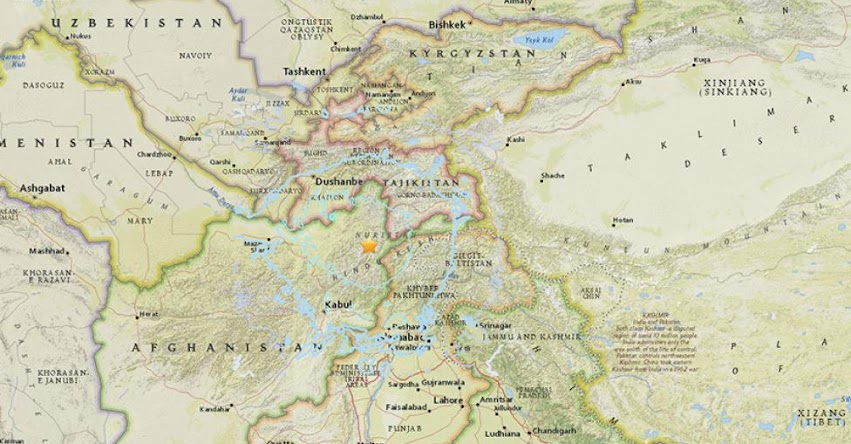 TERREMOTO EN AFGANISTÁN: Fuerte sismo de magnitud 6.1 (Hoy Miércoles 31 enero 2018) Sismo Temblor EPICENTRO Kabul - Uzbekistán - Pakistán - India - USGS