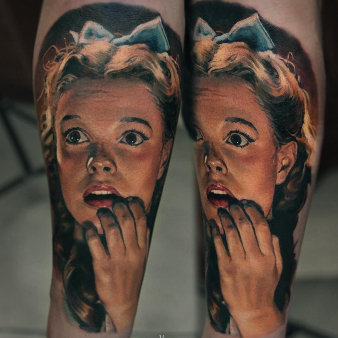 18-The Wizard-of-Oz-Dorothy-Judy-Garland-Valentina-Ryabova-Art-and-Realism-in-Tattoo-Drawings-www-designstack-co
