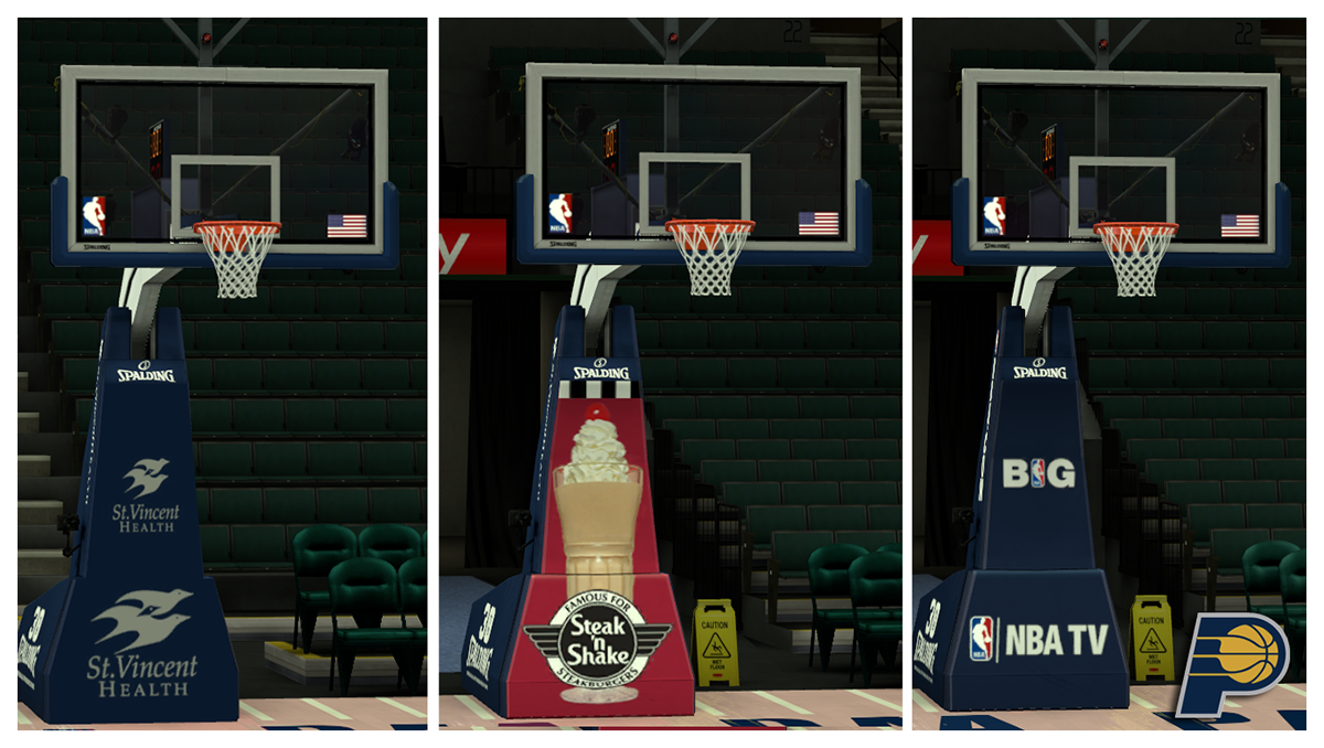 NBA 2K14 Indiana Pacers Court Patch
