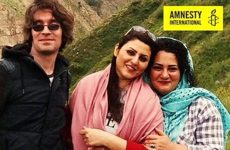 العفو الدولية تعرب عنقلقها بشأّن «آتنا» و«غولرخ» و«آرش صادقي»