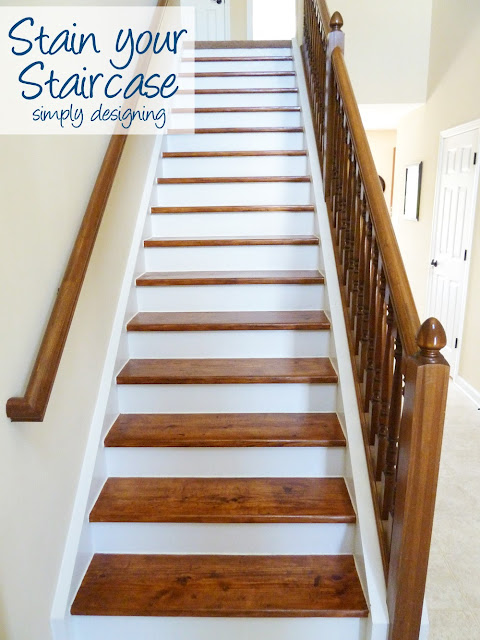 How to Stain your Staircase | step by step instructions on how to rip up carpet and refinish wood stairs, including all the mistakes we made along the way | Simply Designing | #diy #decorating #homedecor #homeimprovement #homeprojects #tutorial #stairs #stain