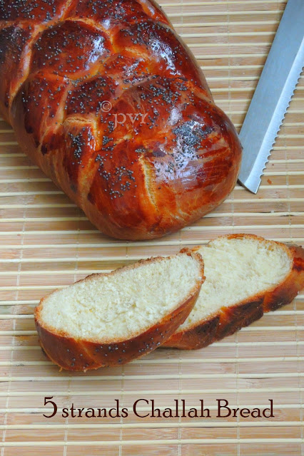 5 strands challah bread