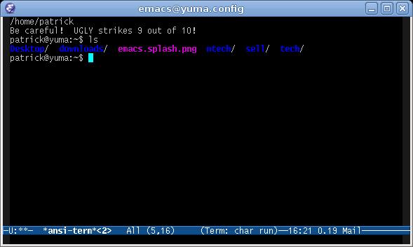 Stray Notes: Emacs Shell