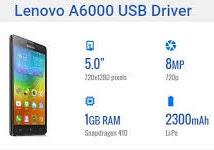 Lenovo A6000 USB Driver Download