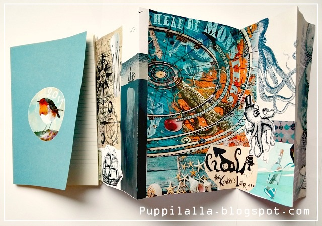 Puppilalla, Rakish Needle, Round Robin, Quilt Journal
