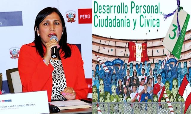 Flor Pablo, Ministra de Educación - Link Minedu conducta sexual