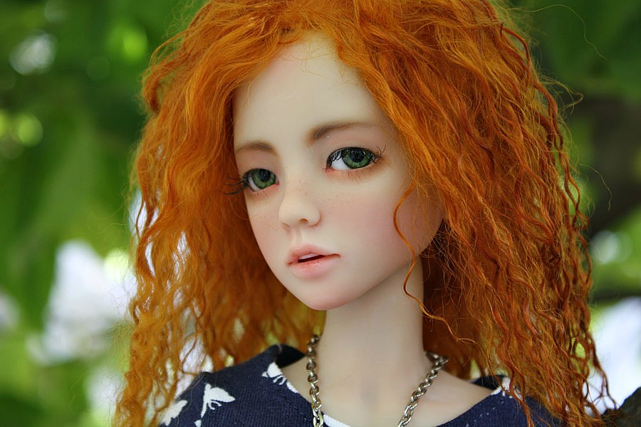 real redhead with green eyes
