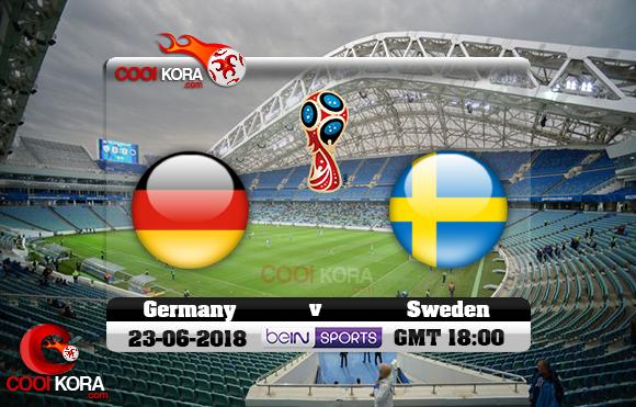 مشاهدة مباراة ألمانيا والسويد اليوم 23-6-2018 بي أن ماكس كأس العالم 2018