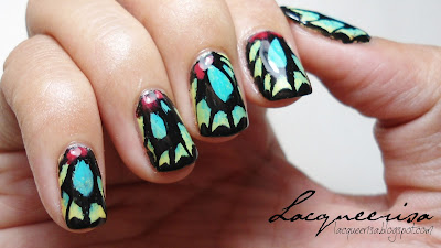 Lacqueerisa: Richmond Birdwing (Male) Butterfly Inspired Nails