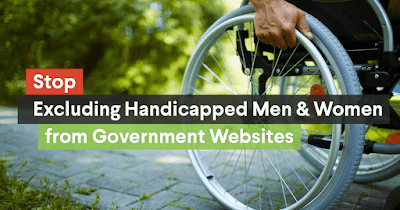 Stop Government Websites from Hiding Disabled People!