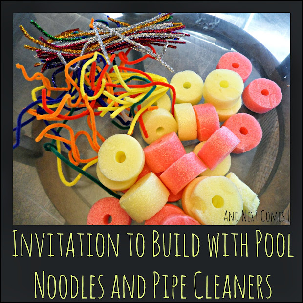 Building With Pool Noodles And Pipe Cleaners