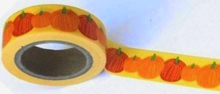 Fall themed washi tape for classroom use