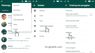 Mengganti Background Chat Whatsapp Android