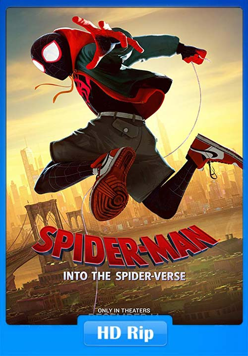 Spider Man Into the Spider Verse 2018 720p BDRip Hindi Tamil Telugu Eng ESub x264 | 480p 300MB | 100MB HEVC