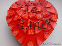 Tarta de fresa desmoldada