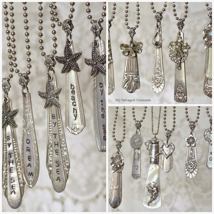vintage silverware handle necklaces