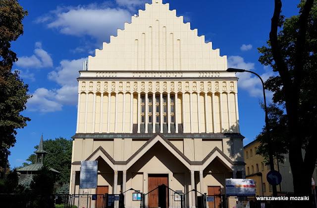 Warszawa Warsaw Saska Kępa mozaika warszawskie mozaiki architektura kościół świątynia ulica Nobla