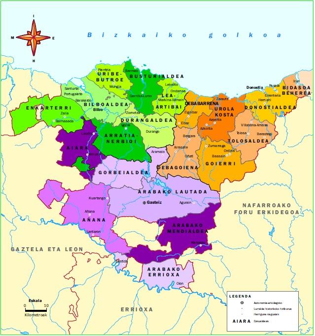 Euskal Herriko Mapa Politikoa.Gure Klaseko Bloga Euskadiko Herrialdeak