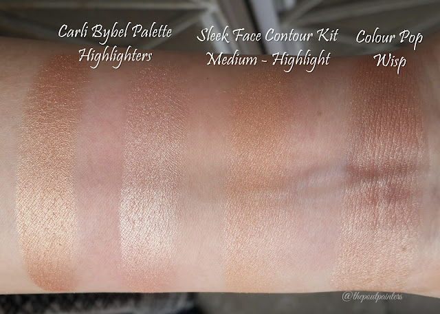Swatches Colour Pop Highlighter Wisp Sleek Contour Kit Medium Carli Bybel Palette