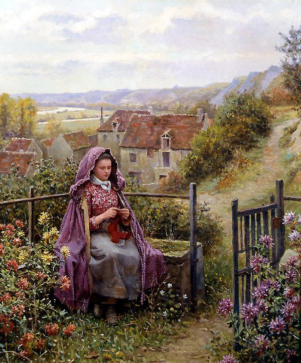 No Jardim - Daniel Ridgway Knight e suas mais belas pinturas