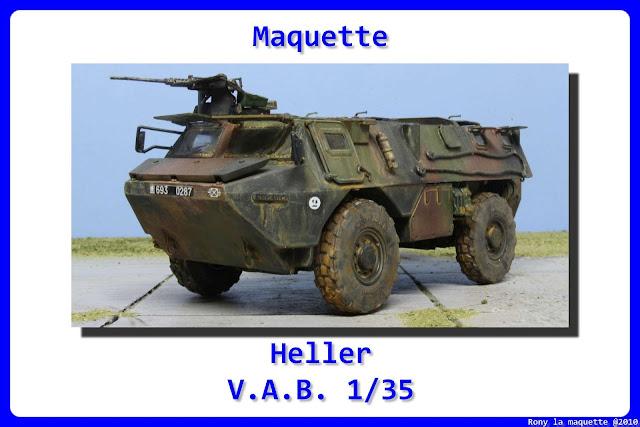 Maquette du Vab 4*4 de Heller au 1/48.