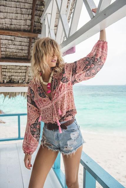 boho blouse style