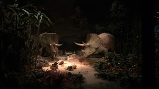 Triceratops Disneyland Railroad Diorama