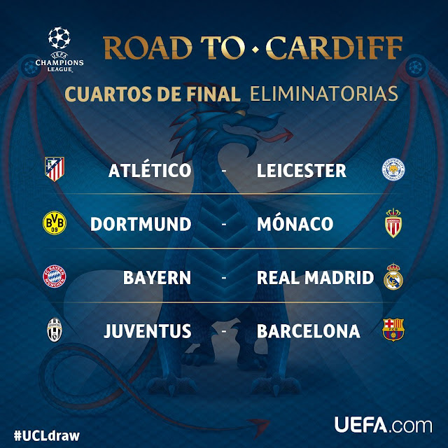 Calendario de los cuartos de final de la UEFA Champions League 2017