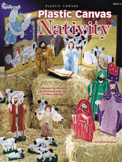 With this plastic canvas book, you can make your own entire Nativity scene out of plastic canvas.