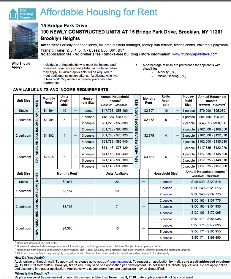 Section 8 Apartments Nyc: New Building At Brooklyn Bridge Park, With Middle-income