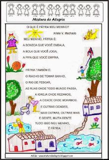 Poesia o que é Pátria meu menino?