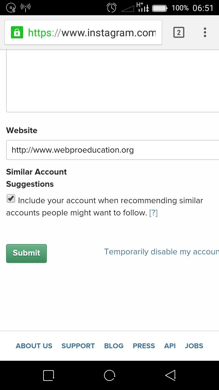Down Until You See The 'temporarily Disable My Account' Link Click On It And