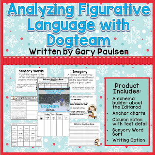 Looking for winter mentor text lessons? This post features the book, Dogteam by favorite author, Gary Paulsen. You can use it for teaching imagery and visualization. Stop by for this lesson and many others.