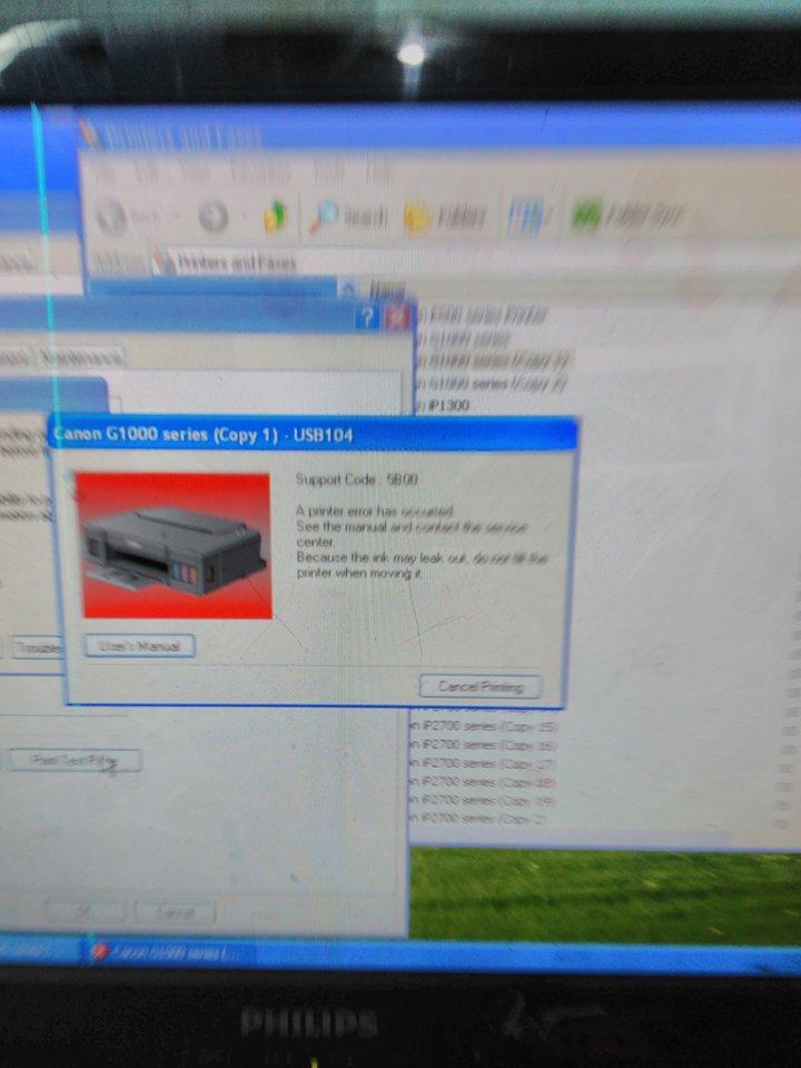 Canon G1000 Error 5b00 : canon, g1000, error, Reset, Canon, G1000, Printer