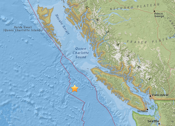 Earthquake Today In Vancouver Island